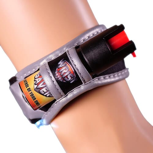 Wrist Saver wristband with pepper spray