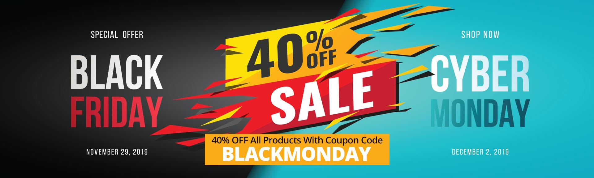 black friday and cyber monday sale banner